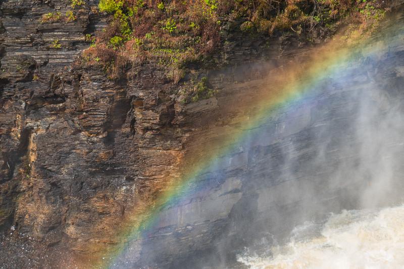 Rainbow above water at Kakabeka Falls. 2019 June 9.
