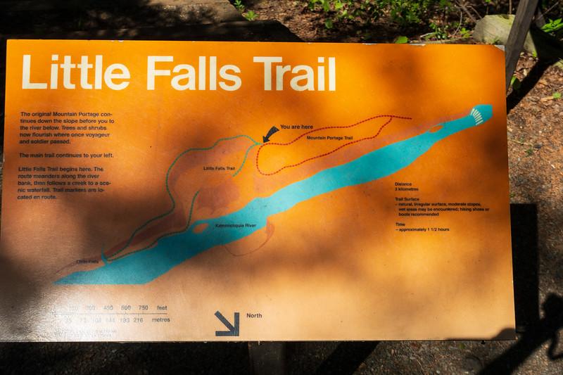 Little Falls Trail sign