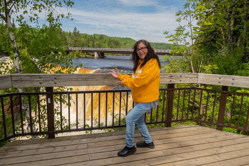 Denise Lantz at Kakabeka Falls