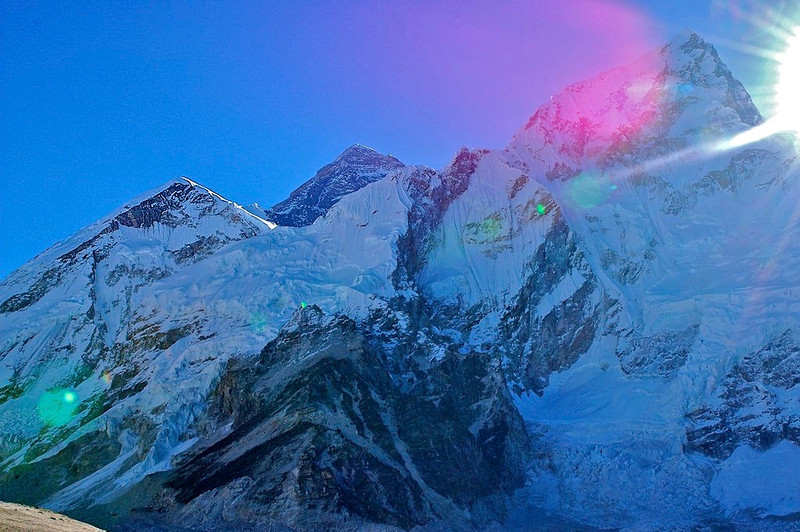 First view of Everest at Sunrise over Nuptse 181 - Version 2