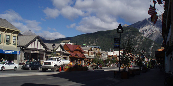Town of Banff to buy ammolite ear rings.