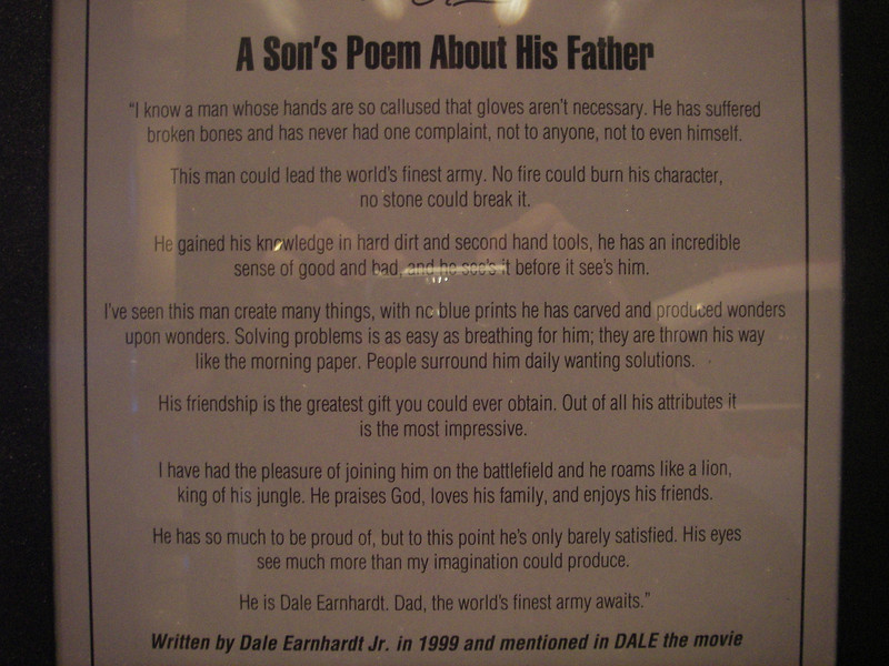A poem written by his son