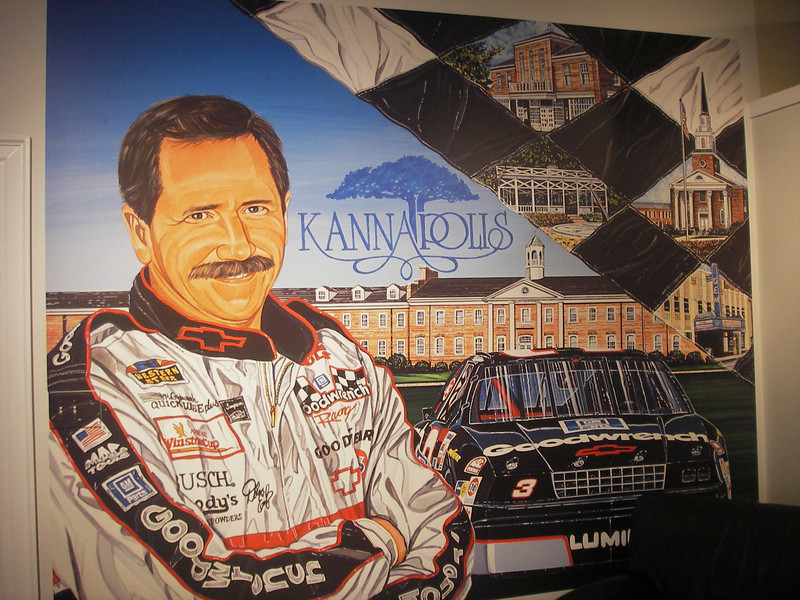 The following pictures & paintings are displayed in a memorial on Main Street in Kannapolis, North Carolina.