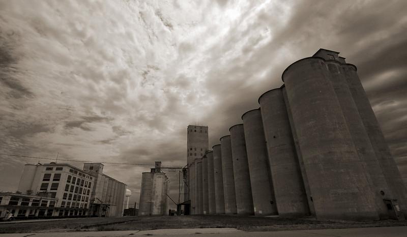 Grain elevators at Salina, Kansas.