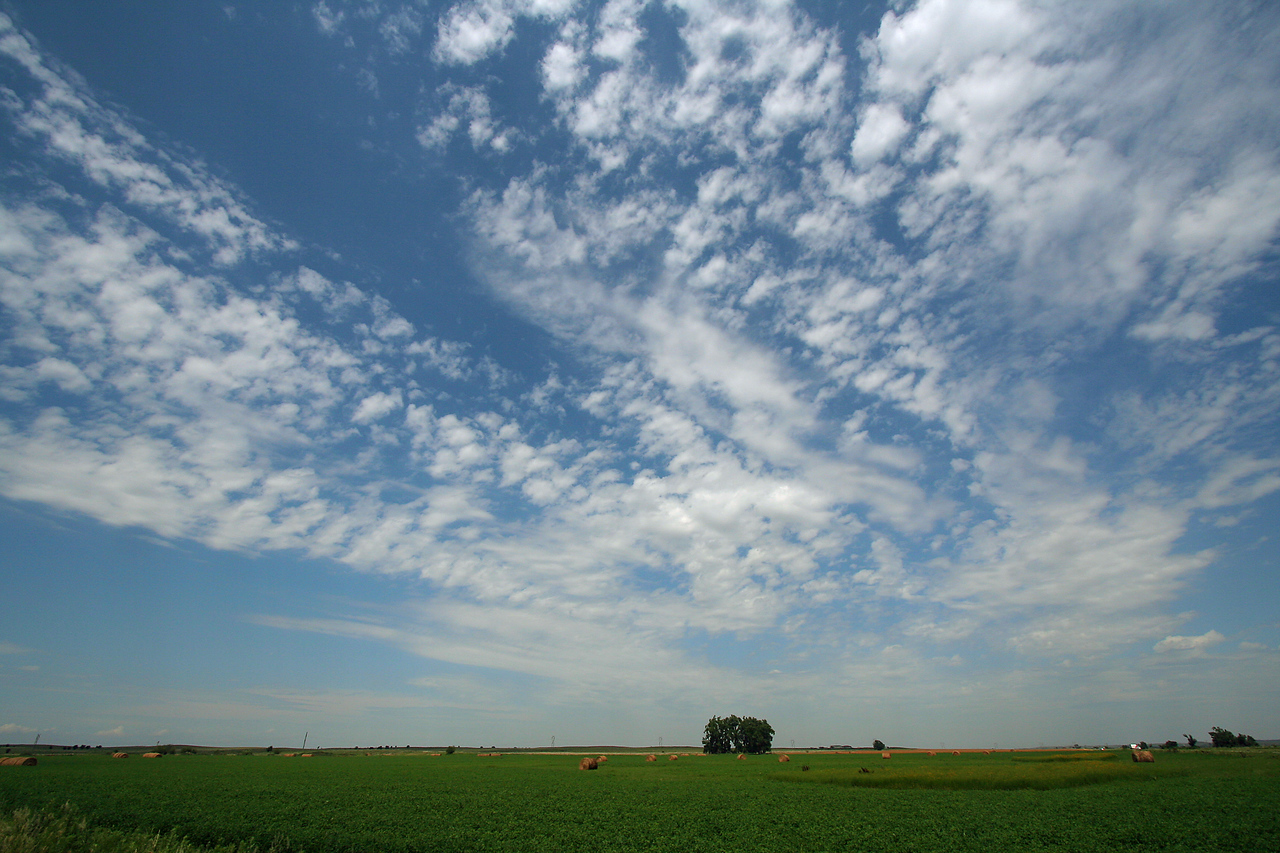 Clouds and fields, Kansas.