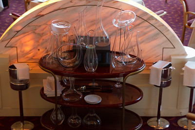 An impressive array of decanters