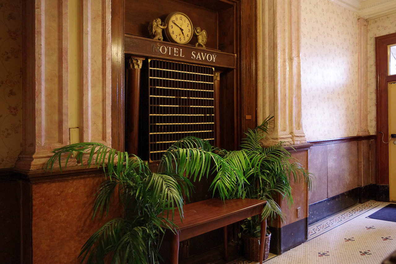 Foyer, Hotel Savoy, Kansas City, Missouri.