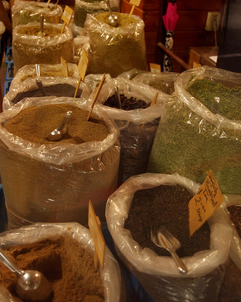 Spices, Farmer's Market, Kansas City, Missouri.