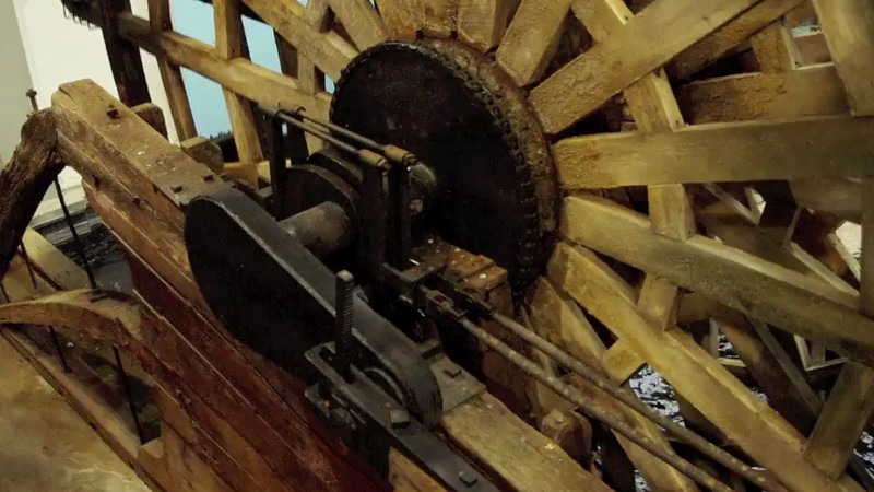 Short video of a life sized replica of one of the side wheels from the Steamboat Arabia. KCMO