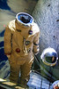 This is the spacesuit worn by Michael Collins during the Gemini 10 flight. Collins performed two space walks during the mission. The heat shield of of the Gemini 10 capsule.<br /> _MG_7488