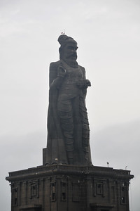 Statue of Tamil saint-poet Thiruvalluvar Kanyakumari, South India.
