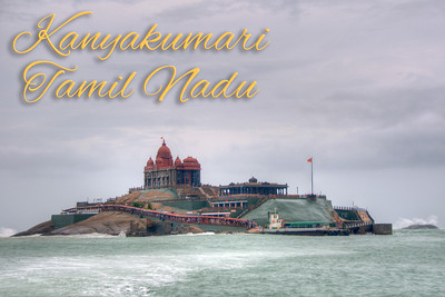 Swami Vivekananda Rock at Kanyakumari, Tamil Nadu (TN), South India.