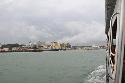 Short boat ride to Swami Vivekananda Rock at Kanyakumari, South India.