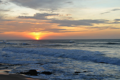 Dramatic Sunrise at Kanyakumari, South India.