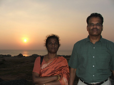 Mom & Dad at sunset