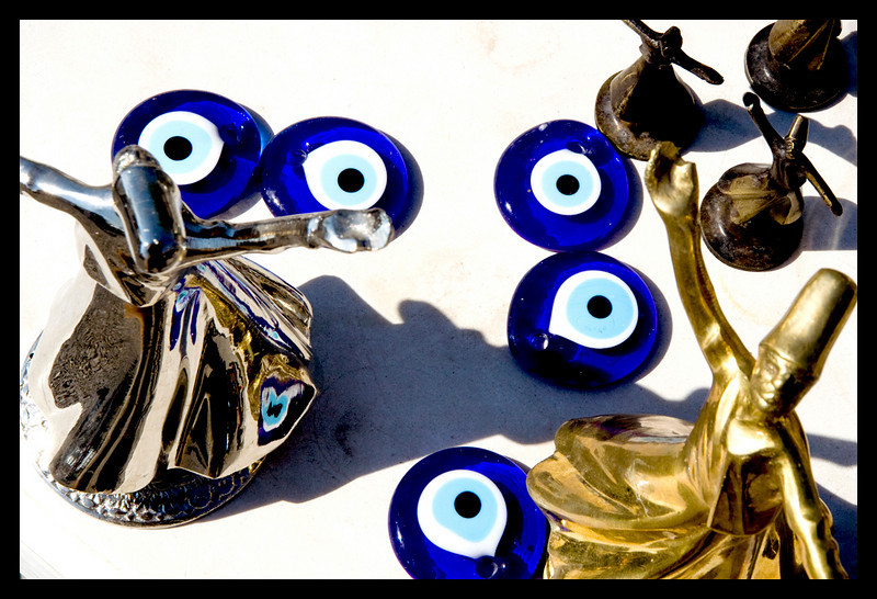 Blue eyes and whirling dervishes, oh the picture of Turkey!