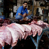 Beef lungs, Karachi, Pakistan<br /> scenes of daily life in markets and bazaars in Karachi<br /> (Credit Image: © Chris Kralik/KEYSTONE Press)