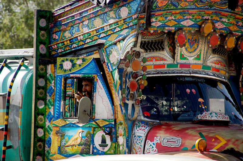 The painted beauties of the road, Karachi, Pakistan<br /> scenes of daily life in markets and bazaars in Karachi<br /> (Credit Image: © Chris Kralik/KEYSTONE Press)