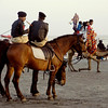 Mounted patrol on the beach, Karachi, Pakistan<br /> scenes of daily life in markets and bazaars in Karachi<br /> (Credit Image: © Chris Kralik/KEYSTONE Press)