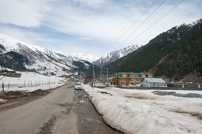 Hotel at Sonamarg, Srinagar-Leh Highway, Kashmir Valley, J&K, India.
