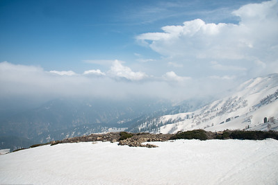 Snow covered Gulmarg, Kashmir, J&K, India.