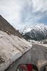 Snow covered banks of Sind river, Srinagar - Ladakh Highway, Forest Block, Jammu and Kashmir