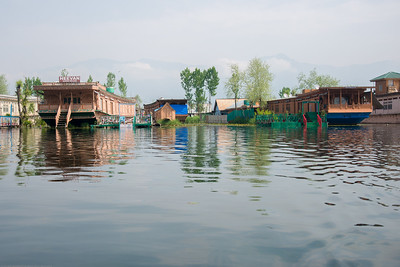 Floating House Boats on Dal Lake, Srinagar, Jammu and Kashmir, India.