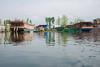 Floating House Boats on Dal Lake, Srinagar, Jammu and Kashmir, India.