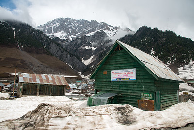 Amry baracks at Sonamarg, Srinagar-Leh Highway, Kashmir, J&K, India.