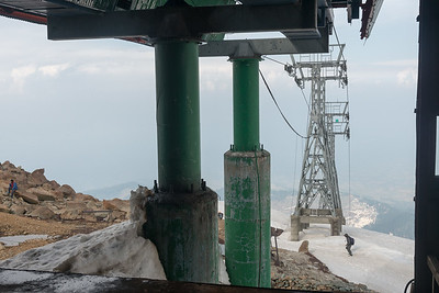 The gondola in Gulmarg, Kashmir, J&K, India. The two-stage gondola lift ferries about 600 people per hour to and from Kongdoori Mountain, a shoulder of nearby Afarwat Peak (4,200 m (13,780 ft)).