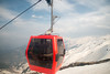 The gondola in Gulmarg, Kashmir, J&K, India. The second stage of the ropeway, which has 36 cabins and 18 towers, takes skiers to a height of 3,747 m (12,293 ft) on Kongdoori Mountain, a shoulder of nearby Afarwat Peak (4,200 m (13,780 ft)).