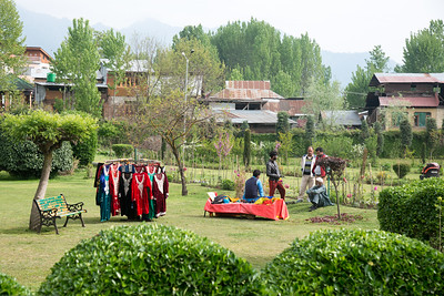 Dress on rent to look like Mughals at Shalimar Bagh (Hindi: शालीमार बाग़; Urdu: شالیمار باغ‎) is a Mughal garden in Srinagar, Kashmir linked via a channel to Dal Lake. The public park, Shalimar Garden, was built by Mughal Emperor Jahangir for his wife Noor Jahan, in 1619.