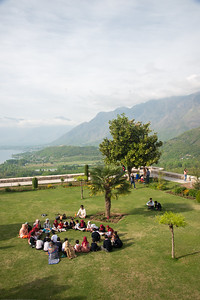 Pari Mahal (Hindi: परी महल ) or The Angels' Abode is a seven terraced garden located at the top of Zabarwan mountain range over-looking city of Srinagar and south-west of Dal Lake. Children come for a picnic and enjoy the view.