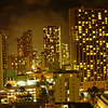 Honolulu at night<br /> as viewed from our hotel balcony