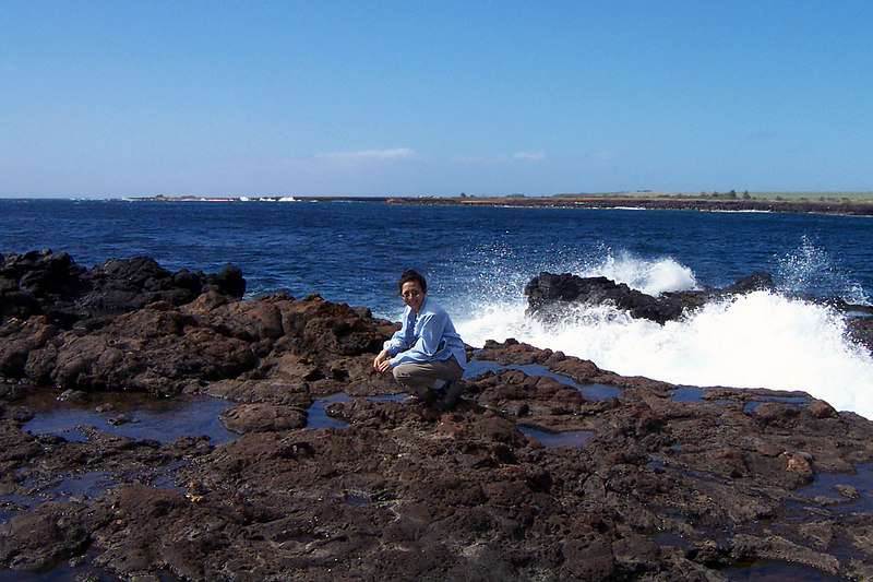 Helen checking out one of the tidepools. We found fish, shellfish, crabs, sea urchins and one octopus in these.