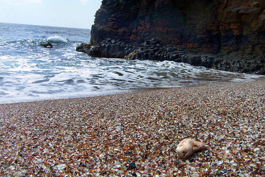 Day 6 - This is a place that's called Glass Beach on the south shore. What looks like sand is actually glass from a near by dump.