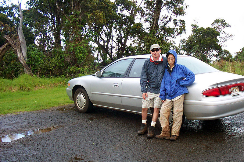 Back at the car. We got wet and muddy on this hike, but it was the best area we hiked to.
