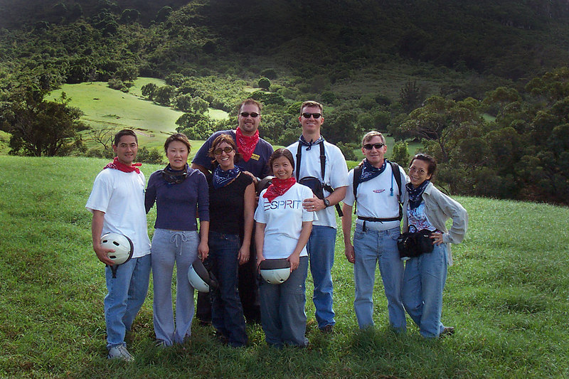 After riding for about an hour, we took a break. We used this break to get a group shot. Troy & Jessica, Glen & Dawn, Erick & Linda and Me & Helen.