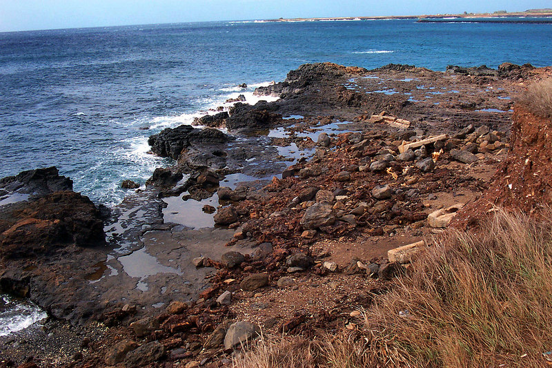 Looking down at the sea side dump that created Glass Beach. Photo by Helen