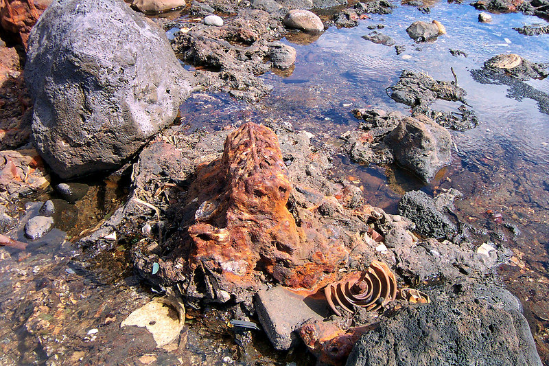 This motor has become part of the rocks.
