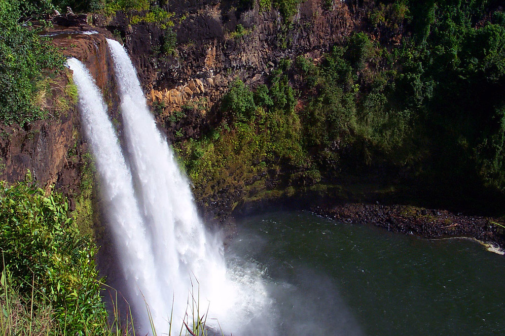 Day 2 - On our way to check out Waimea Canyon, we took a side trip to see Wailua Falls. These are the falls that they showed at the start of the Fantasy Island tv show.