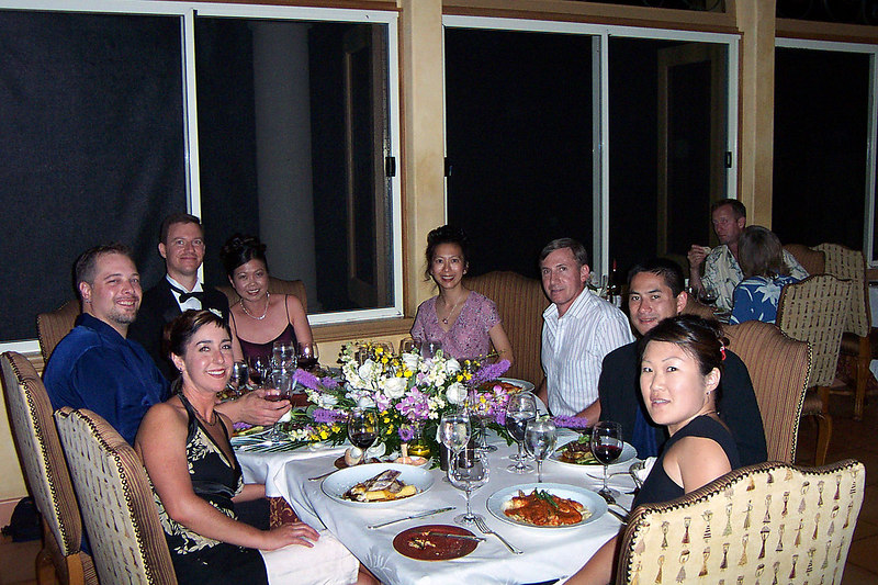 After the wedding, we had dinner at the hotel. The food and wine were great.