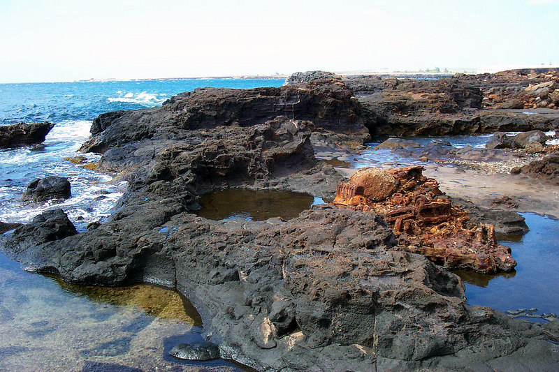 Along with the junk there was also a lot of tidepools here. Photo by Helen