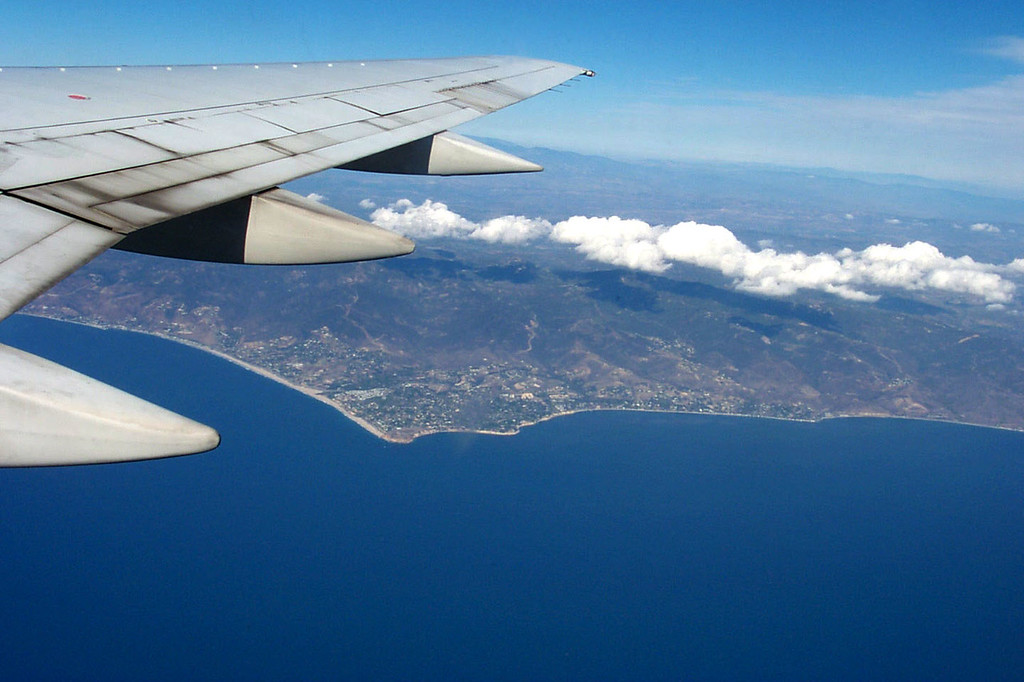 A short time after take off we were flying past Point Dume.
