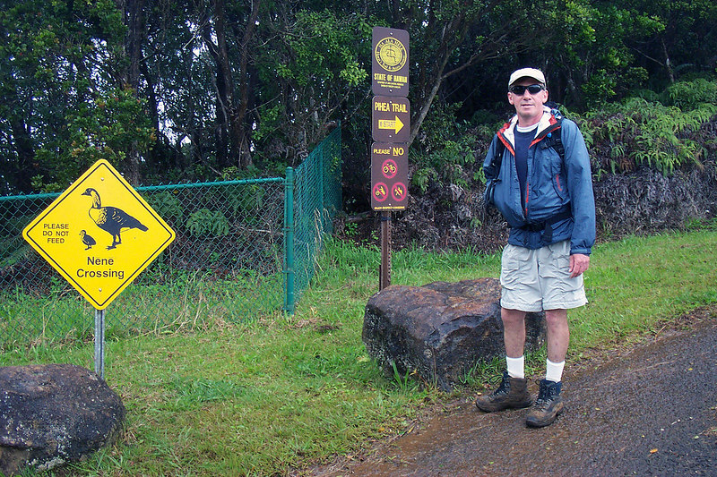 This is at the Puu O Kila Lookout, the rain has stopped for now. The Pihea Trail starts here. Photo by Helen