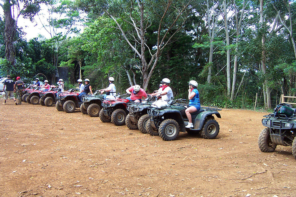 Day - 5 The next morning we all went for an ATV tour of the Kipu Ranch.