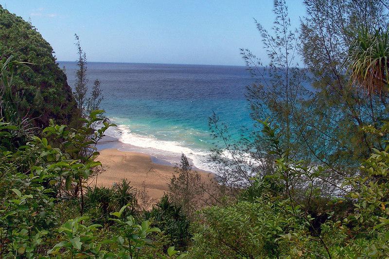 Our first view of Hanakapiai Beach.
