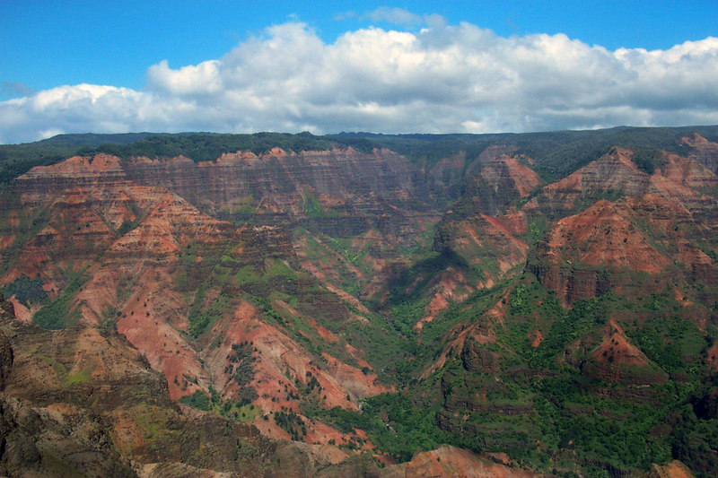 The upper part of Waimea Canyon looks a lot like the Grand Canyon, just greener.