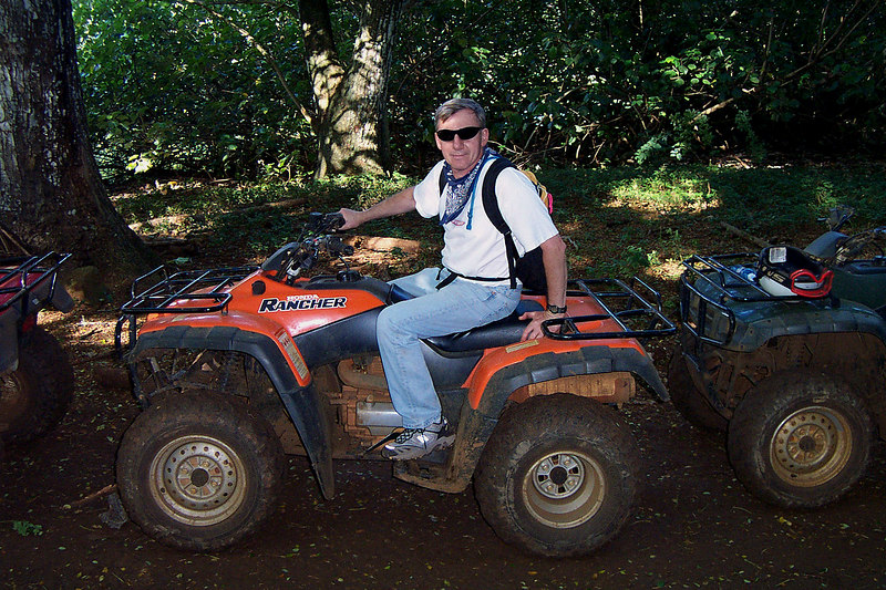 Me, I picked the only orange ATV at the start. Made it easy to figure out which one was mine after we got off at break spots. Photo by Erick