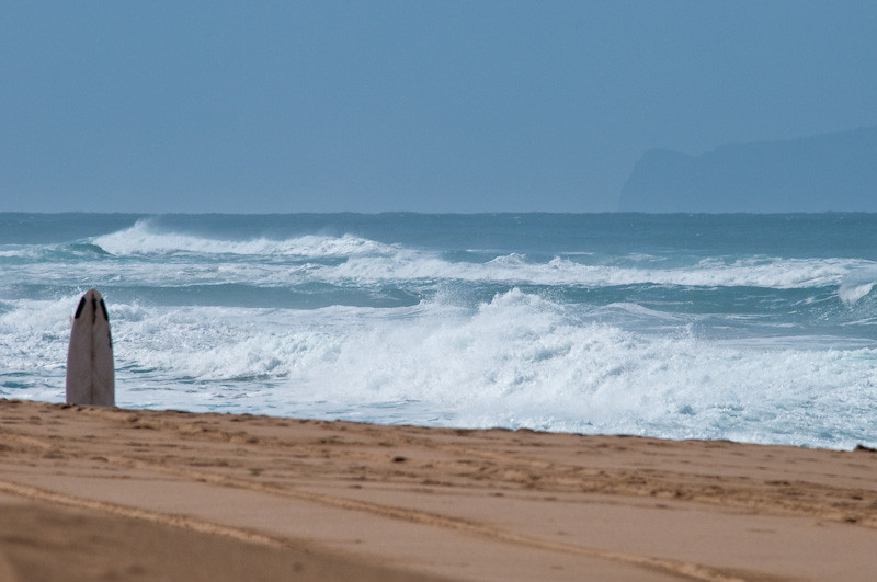Polihale Beach Park at the far NW end of the island - remote and empty